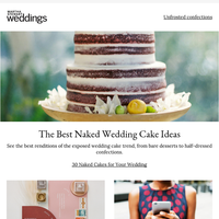The Best Naked Wedding Cake Ideas
