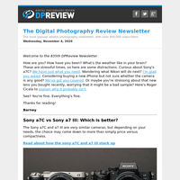 Digital Photography Review Newsletter: Wednesday, November 4, 2020