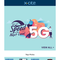 Take Your Speed To The Next level - Premium 5G Mobile Phones + Free Gifts On Selected Products.