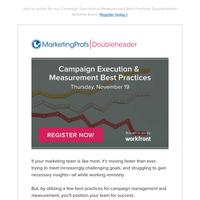 [Doubleheader Webinar] Campaign Execution & Measurement Best Practices