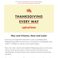 Mac and cheese for Thanksgiving (and for right now)