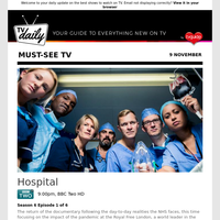 Don't miss: Hospital at 9:00pm on BBC Two HD