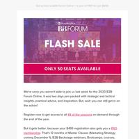 Flash Sale: B2B Forum + PRO