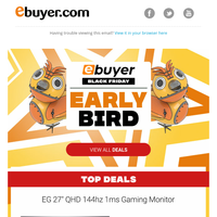 Amazing Early Bird Black Friday deals