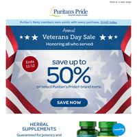 ★STARTS NOW: Veterans Day Sale...Up to 50% off