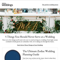 5 Things You Should Never Serve at a Wedding