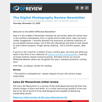 Digital Photography Review Newsletter: Thursday, November 12, 2020