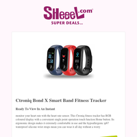 Monitor Your Health with Ctroniq Bond X Fitness Tracker For Only 5.9KD!