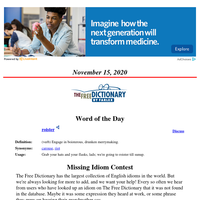Word of the Day, November 15, 2020
