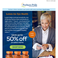 Eye Health >> Save up to 50% off Lutein