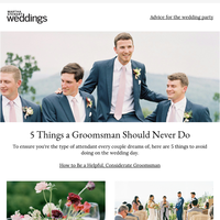 5 Things a Groomsman Should Never Do on the Wedding Day