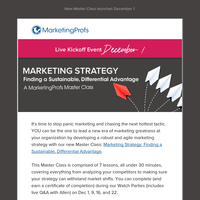 You can lead the marketing strategy [Master Class]