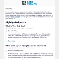 Check out these trending threads on BikeForums!