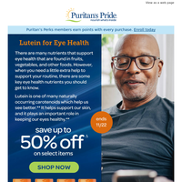 Support your eyes with Lutein [save up to 50%!]