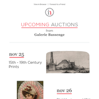 Upcoming from Bassenge: Old Master, Portrait Miniatures, Photography