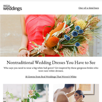 Nontraditional Wedding Dresses You Have to See