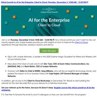 Virtual Summit on AI for the Enterprise: Client to Cloud