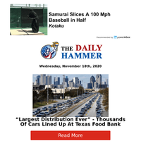 Thousands Of Cars Lined Up At Texas Food Bank...
