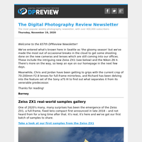 Digital Photography Review Newsletter: Thursday, November 19, 2020