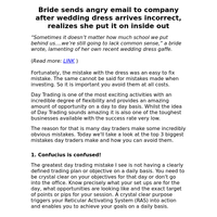 Bride sends angry email to company after wedding dress arrives incorrect, realizes she put it on inside out