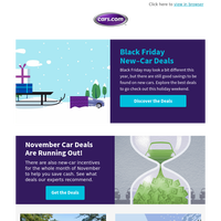 Black Friday Car Deals Have Been Announced