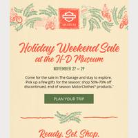 Mark your calendar: Holiday Sale