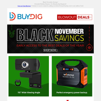 Gift Shopping? Portable Power Generator, Fitness Watches, Smart Home Security, TVs & MORE!