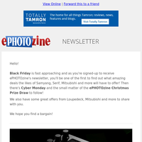 Top Photography Deals, Black Friday Is Coming And So Is The ePz Christmas Prize Draw!
