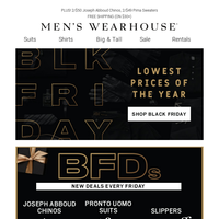 New BFDs + Lowest prices of the year! Shop Black Friday Deals—$89 Pronto Uomo suits