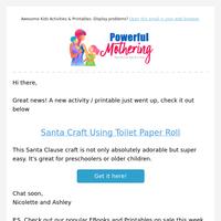 Santa Craft Using Toilet Paper Roll