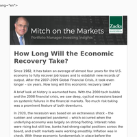 How long will it take for the economy to recover?