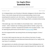 Essential Arts: How are you consuming art now?