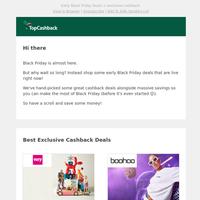 Get cashback on early Black Friday deals! 💸