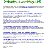 Magnesium Deficiency, Treat Cold & Flu and More