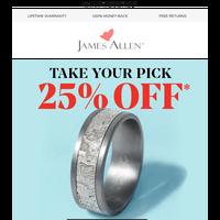 25% Off: Alternative Vs. Carved Wedding Rings