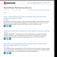 World News (Mon 23 Nov 2020)