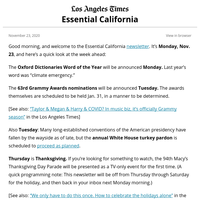 Essential California: L.A. suspends in-person dining