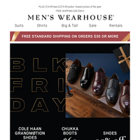 Black Friday SALE on shoes: $69 Chukka boots, $99.99 Cole Haan, 30% OFF almost all!