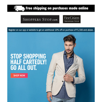 Elevate your fashion quotient with men's wear from Celio, Wrangler, GAP, Allen Solly