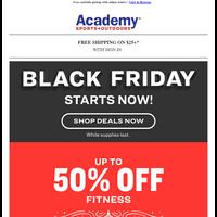 Black Friday Deal Alert: 50% Off Fitness Equipment + Ride-Ons