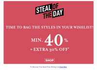 {EMAIL}, The Biggest Deals On_The Largest Collection Extra 30% Off , Free Delivery