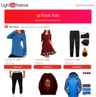 Hey {NAME} don't miss out amazing Flash Sale - Exercise, Fitness & Yoga Clothing