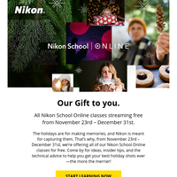 FREE photography bootcamp from Nikon.