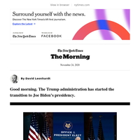 The Morning: The transition begins