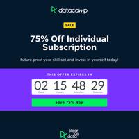 75% Off: Gift yourself data skills!
