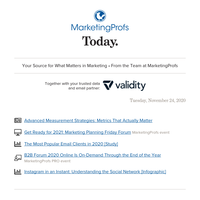 Metrics That Truly Matter | Marketing planning | Tech audiences | Email client stats | Understand Instagram