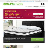 Free Ship: Osteopedic Spring Mattress, Everfit Foldable Electric Treadmill, Standard Size Bidet Toilet Seat, Intex Inflatable Queen Airbed & More