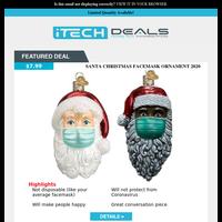 Santa Mask Christmas Ornament $8 Shipped!
