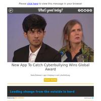 WOW Wednesday: New App to Catch Cyberbullying Wins Global Award