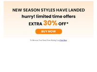 {EMAIL}, Limited Time Offers, Extra 30% Off Buy now